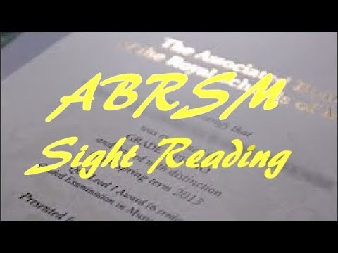 How to pass an ABRSM exam  Sight reading