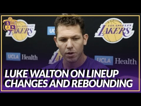 Lakers Nation Interview: Luke Walton On Difficulty with Lineups and Rebounding