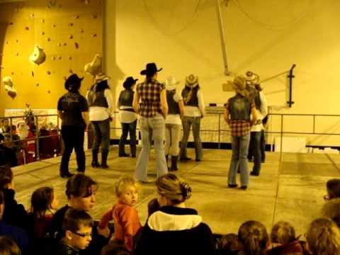 prestation danse country a la salle louis blanc de boulogne sur mer (téléthon)