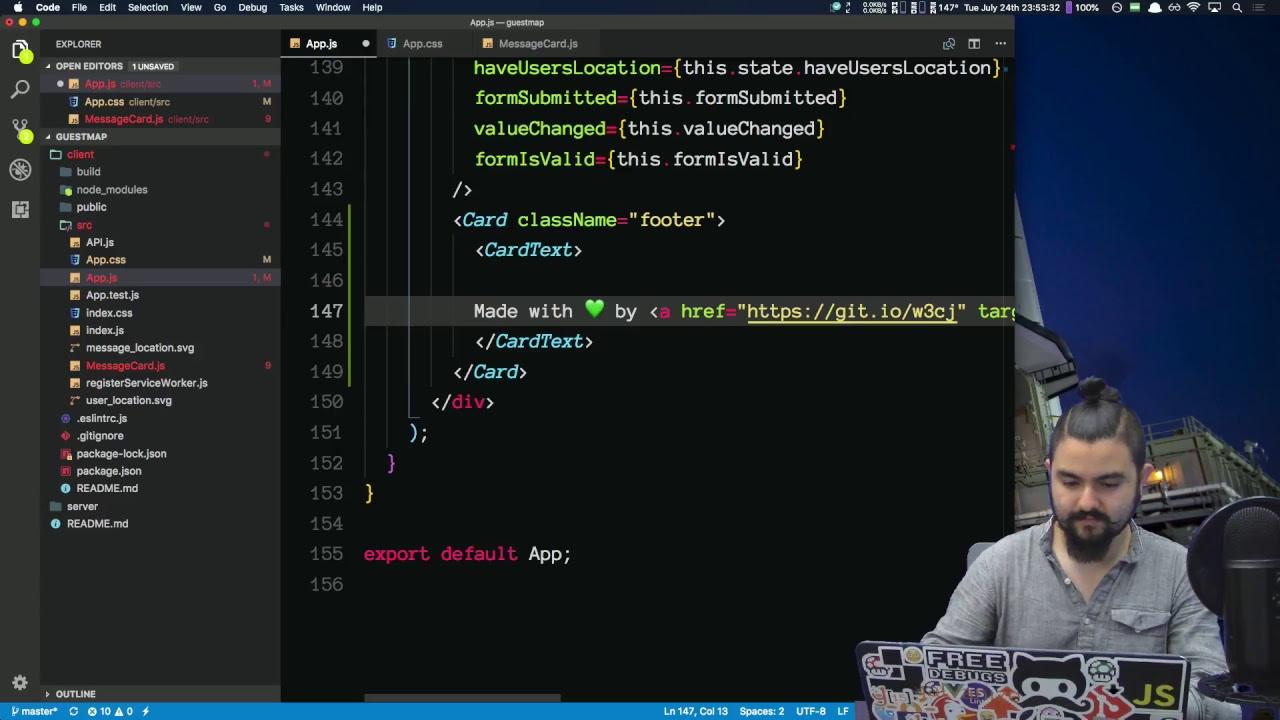 Build a Maps App with Leaflet - React/Node js/Express/MongoDB