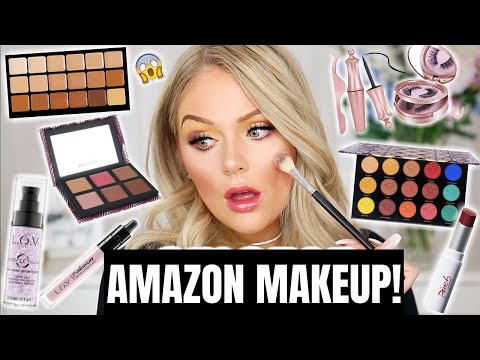 FULL FACE OF AMAZON MAKEUP TESTED | KELLY STRACK