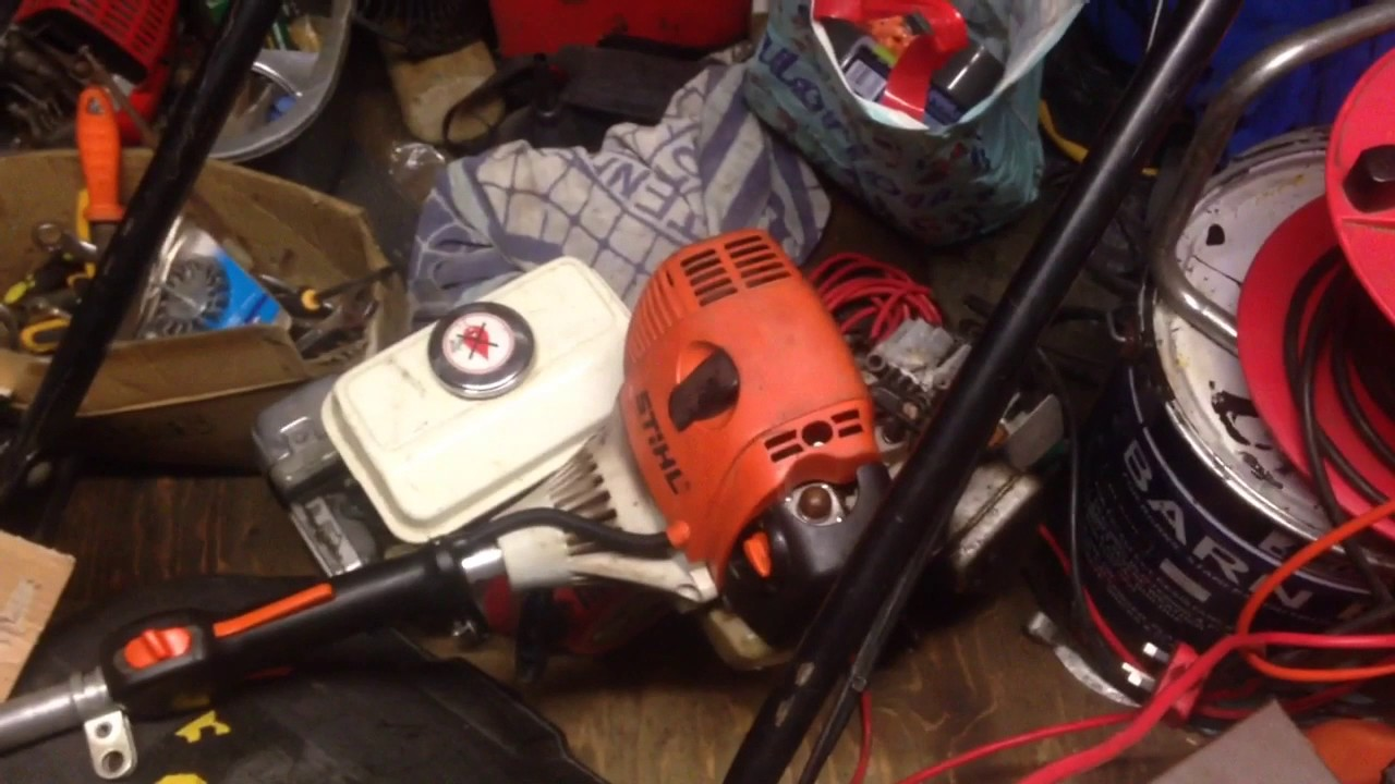 Stihl FS90R strimmer 4 mix engine repair to stop an annoying engine noise  (part 2)