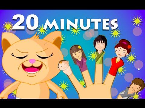 Cat Finger Family And 20 More Finger Family Songs | HD Rhymes For Children