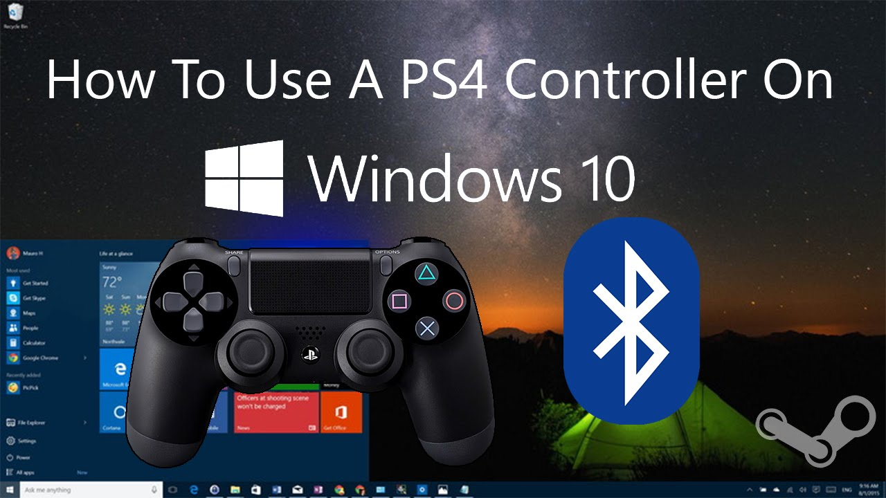 How To Use A PS4 Controller In Windows 10 Over Bluetooth