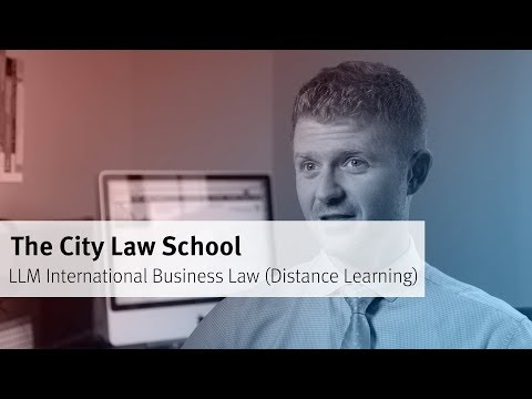 LLM International Business Law (Distance Learning) at The City Law School