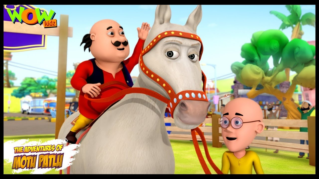 Motu Patlu Cartoons In Hindi | Animated cartoon | Circus ka ghoda | Wow Kidz
