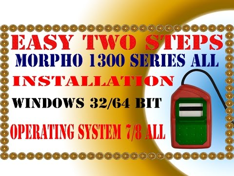 SAFRAN MORPHO SMART MSO 1300 SERIES E E2 E3 ALL INSTALLATION ONLY TWO STEPS IN APNA CSC ESPECIALLY