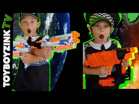 THE SWAMP CREATURE EMERGES! SNEAK ATTACK SQUAD!! NERF WAR!