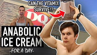 Only Eating Anabolic ICE CREAM For 24 HOURS | Healthy Ice Cream + My Shoulder Workout