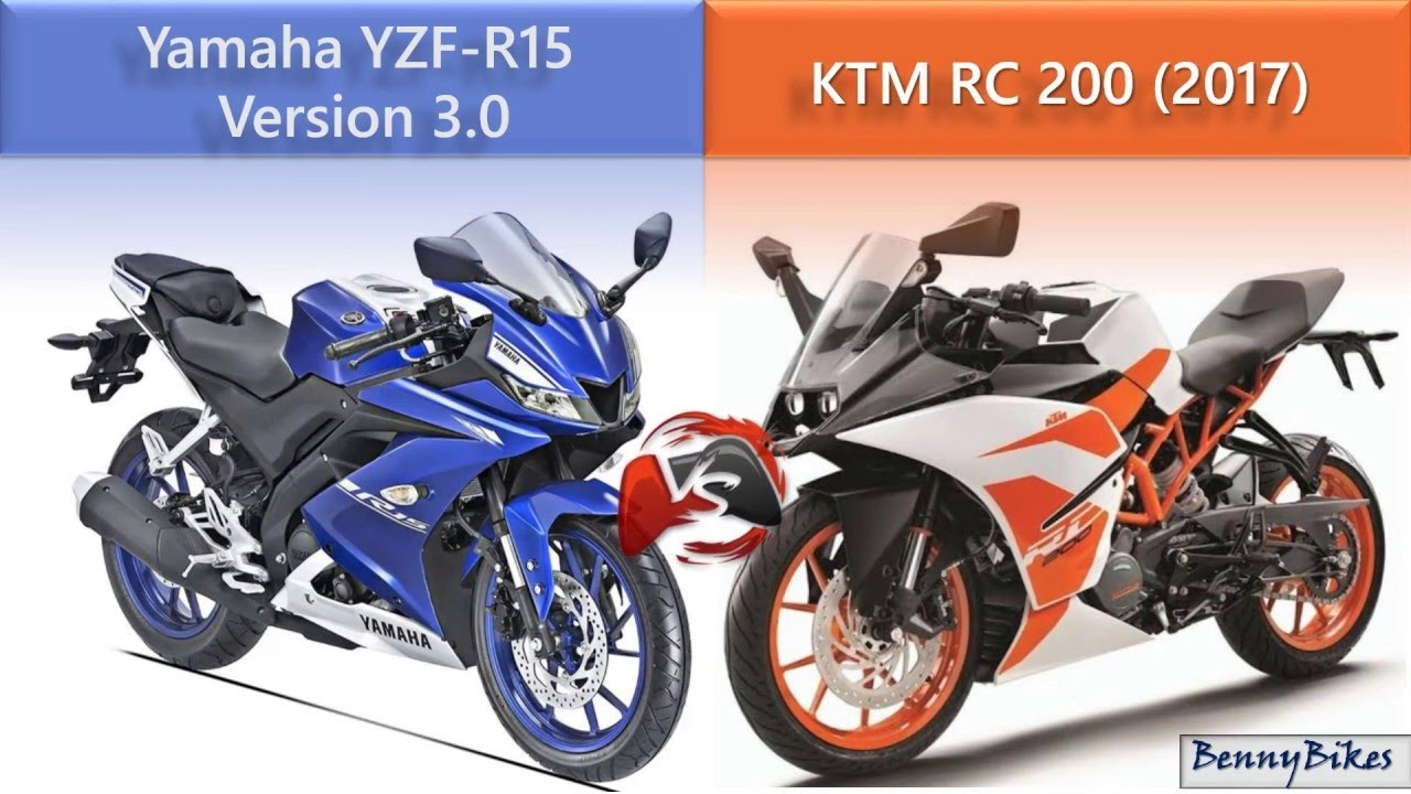Bajaj pulsar rs200 vs ktm rc200 vs honda cbr250r comparison youtube - Yamaha R15 Version 3 Vs Ktm Rc 200 2017 Comparison Review
