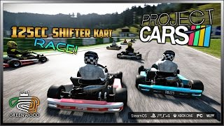 Project Cars Karting Race! - 125cc Shifter Kart @ Greenwood Circuit