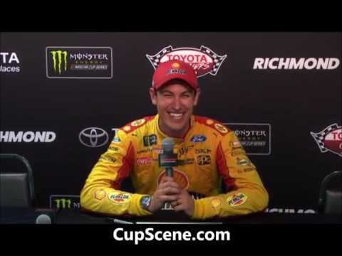 NASCAR at Richmond International Raceway, April, 2017: Joey Logano post race