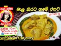 මාලු කිරට උයන හැටි Coconut milk fish curry recipe(Maalu kiri hodi) by Apé Amma