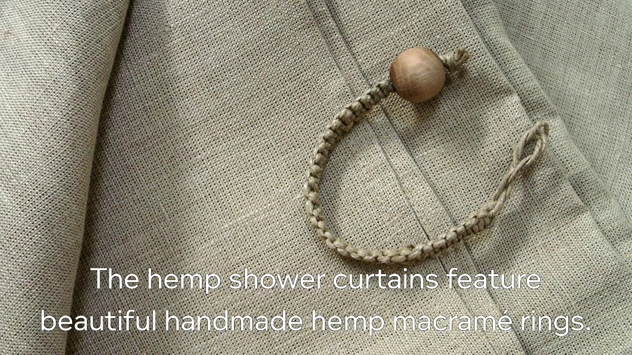 Handmade Organic Cannabis Hemp Shower Curtains By Rawganique Co