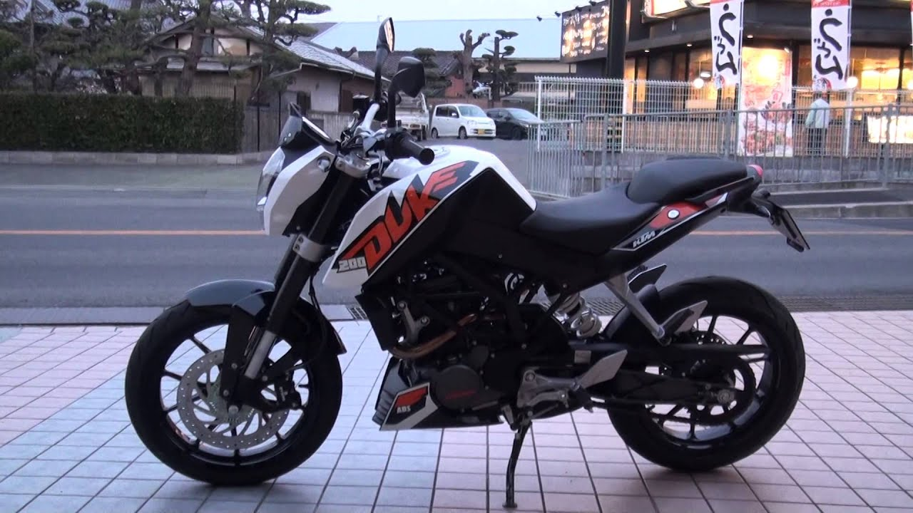 ktm 200 duke road test 2013 ktm200デューク abs - youtube