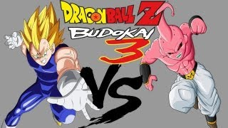 Dragon Ball Z Budokai 3 Majin Vegeta (w/Final Explosion) VS. Kid Buu [HD]