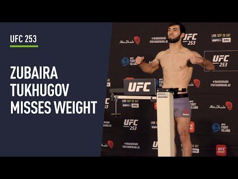 Zubaira Tukhugov misses weight ahead of UFC 253