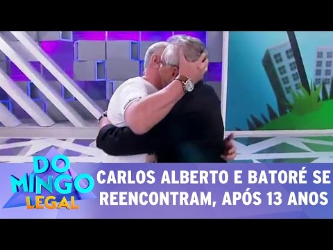 Domingo Legal (05/03/17) - Carlos Alberto reencontra Batoré, após 13 anos