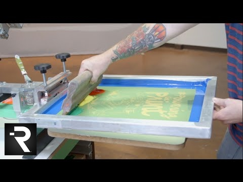 2cde1ddf How To Screen Print Multiple Colors With One Screen - YouTube