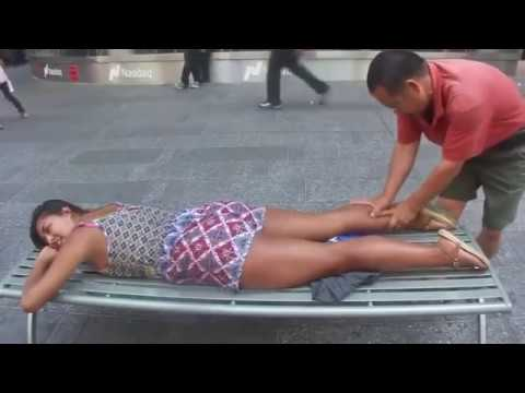 1 Hour weird street massage made by luo dong Full Compilation enjoy
