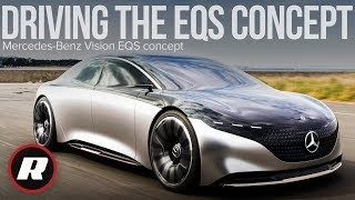 Driving the lovely Mercedes-Benz Vision EQS concept in Japan