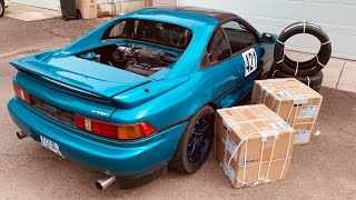 Messing Up My New Rims... II Supercharged V6(J32A2) Toyota MR2(SW20)