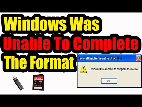 Windows Was Unable To Complete The Format: Best Methods (Flash, SD Card, Hard Disk)