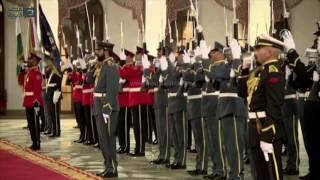 مصر العربية | ملك البحرين يستقبل أردوغان بمراسم رسمية
