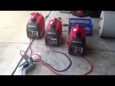 diy wiring diagram honda 3 parallel generators youtube  3 parallel generators youtube