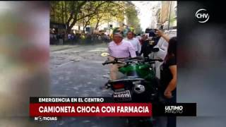 Chilevisión - EXTRA - Derrumbe, atropello y choque en Santiago Centro