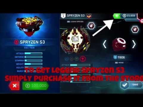 Legend Spryzen S3 Gameplay & How to get it!