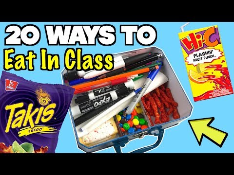 20 Smart Ways To Sneak Food and Candy Into Class Using School Supplies - NEVER FAILS | Nextraker