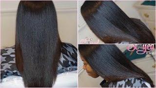 Salon Work | Silk Press on Natural Hair | #SlayedByShellySaturdays