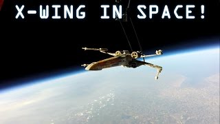 X-Wing in Space - Launch to Crash Landing