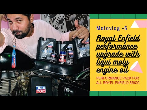 Motovlog 5 liqui moly performance pack for Royal Enfield 350cc full detail/one month 250 subscribeR