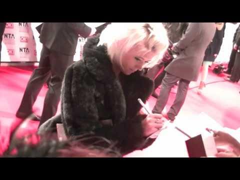 Danielle Harold Signing Autographs At The National Television Awards 2012