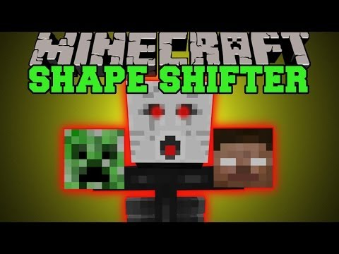 Minecraft: SHAPE SHIFTING! (TURN INTO ANY MOBS AND USE ABILITIES)  Shape Shifter Mod Showcase