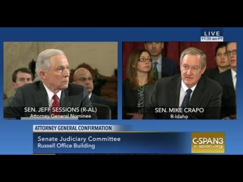 Crapo Questions Attorney General Nominee Jeff Sessions