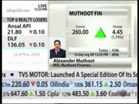 Muthoot Finance MD Mr Alexander Muthoot  speaks to NDTV Profit  on Business Outlook
