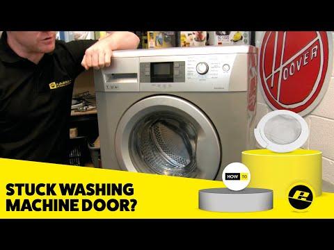 How to Release a Stuck Washing Machine Door