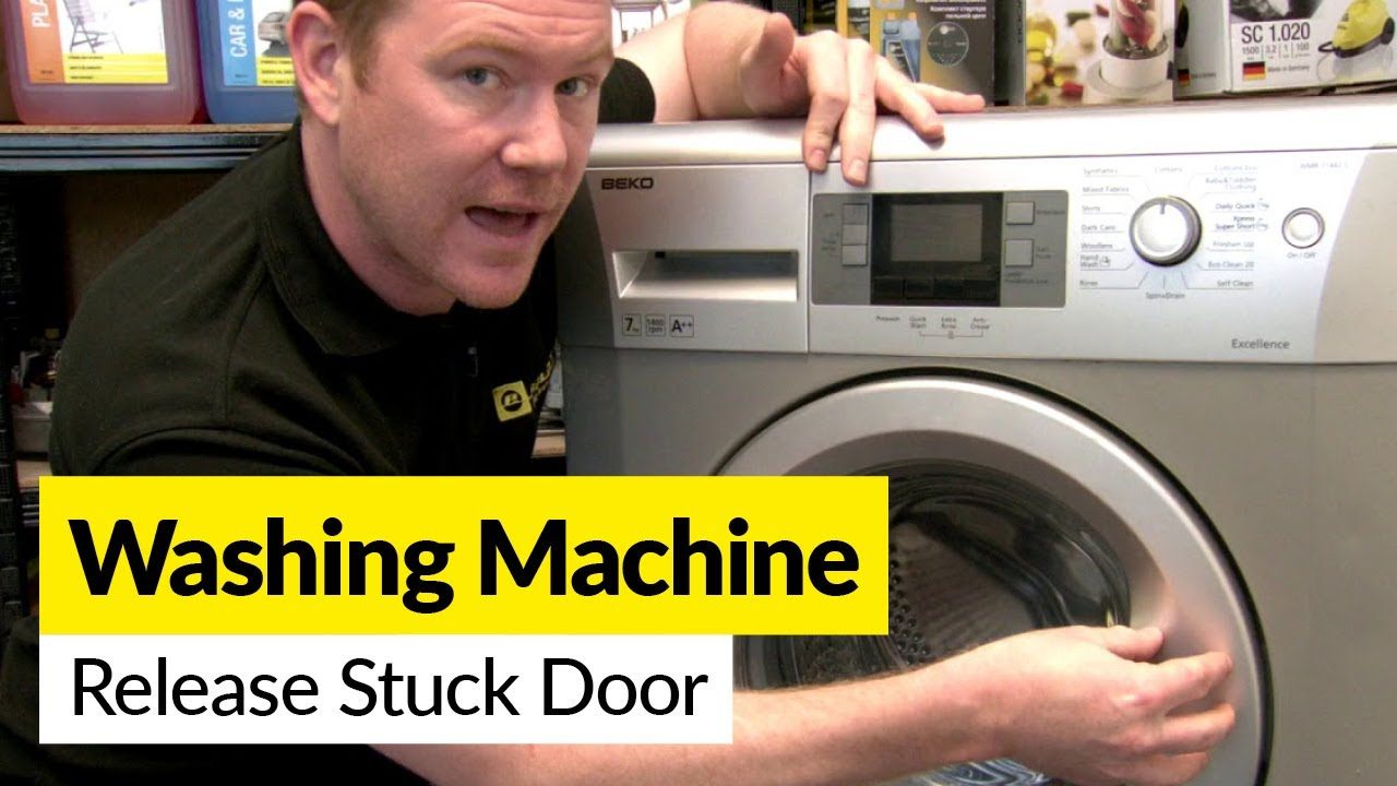 How To Release A Stuck Washing Machine Door Youtube