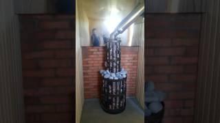 Монтаж и работа печи для бани Везувий Легенда с 205 дверцей