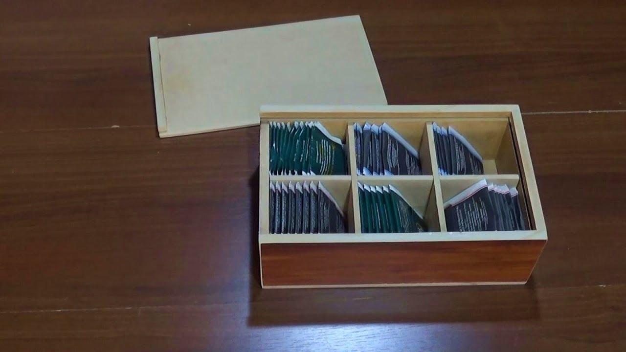 Caja de madera con tapa corrediza y divisiones youtube for Caja madera con tapa
