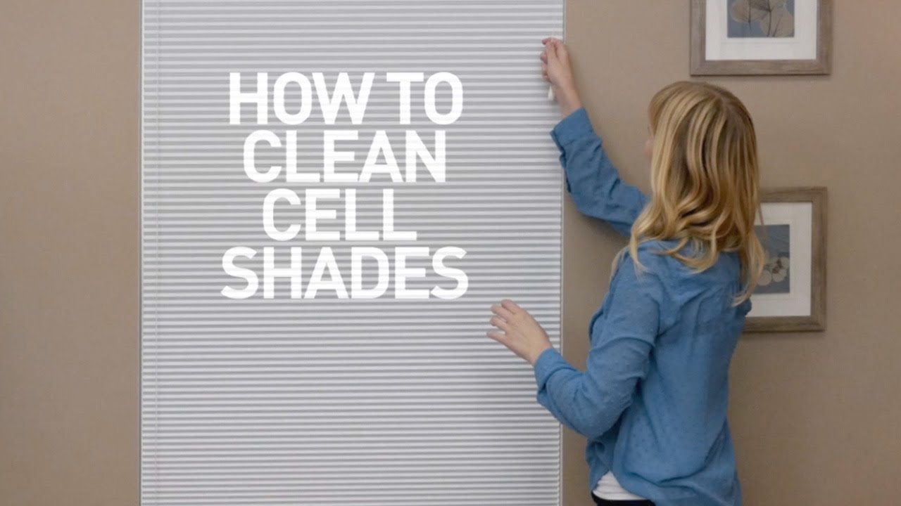 how to clean cellular shades youtube. Black Bedroom Furniture Sets. Home Design Ideas