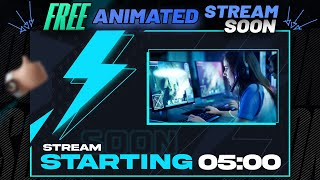 5 min Live Stream Starting Soon Screen - No copyright [Animated & Free]