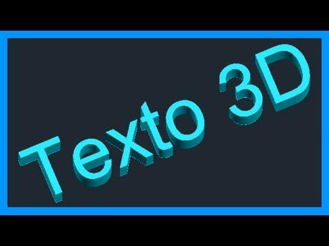 Autocad - Texto 3D. Extruir texto. Letras, números y símbolos 3D. Tutorial en español HD