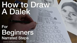 How to Draw a Dalek from Doctor Who for beginners