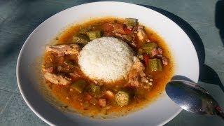 Cuisine Cajun - Soupe de gombos, poulet et dés de jambon - v2.0