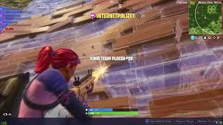 Spectating a Fortnite cheater - Battle royal (Internetpolize1)