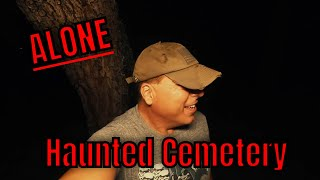 (30 Minute ALONE Challenge) RETURN TO THE HAUNTED CEMETERY AT MIDNIGHT, THE MANIAC SHOWS UP AGAIN